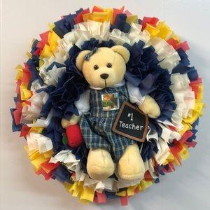 New 1 Teacher wreath